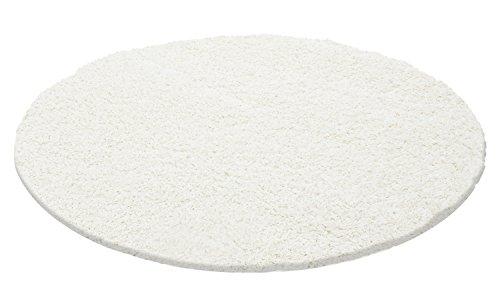 Ayyildiz Wunderschöne Rund Shaggy Teppich Hochflor Langflor Flokati 30 mm Größen, Schadstoffgeprüft Öko Tex Standard 100, Größe:Ø 200 cm Rund, Farbe:Cream