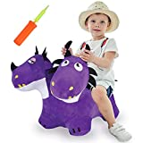 Product Image of the iPlay, iLearn Bouncy Pals Two-Headed Hopping Dragon Toys, Inflatable Horse W/...