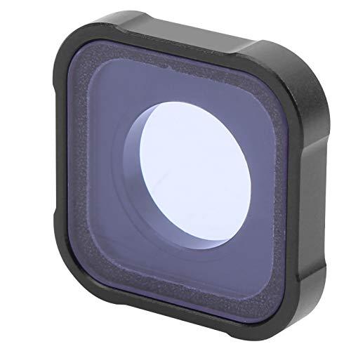 Filtro per obiettivo notturno, filtro per obiettivo di ricambio con coperchio protettivo impermeabile durevole in lega di alluminio, per videocamera per GOPRO HERO 9 Motion