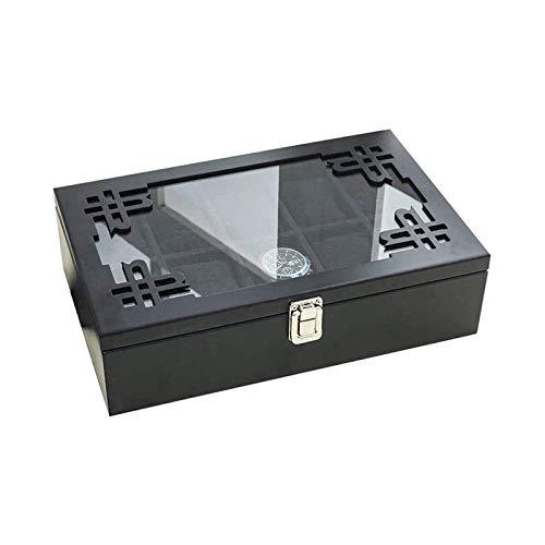 SSHA Joyero Caja de Acabado Caja de Reloj Diez Paquete Vestidor de Madera Simple Retro Reloj Pendientes Pendientes Pendientes Pendientes Caja de Almacenamiento Organizador de Joyas (Color : C)
