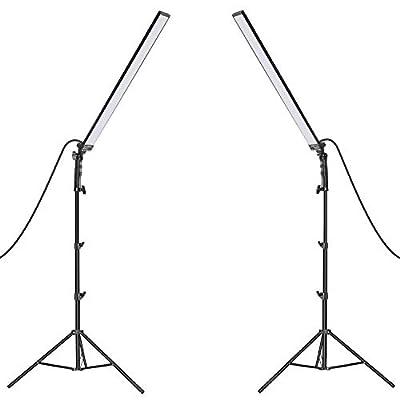Neewer Photography Studio LED Lighting Kit: 5500K Dimmable Light with Light Stand Tripod for Photographic Video Fill Light, Film Lighting, Green Screen Lighting, Glamcor Lighting