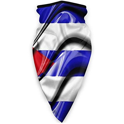 Anqi-Shop Bandera Cubana Símbolos Nacionales Máscara de Boca al Aire Libre Máscara Deportiva a Prueba de Viento Máscara de esquí Escudo Bufanda Bandana