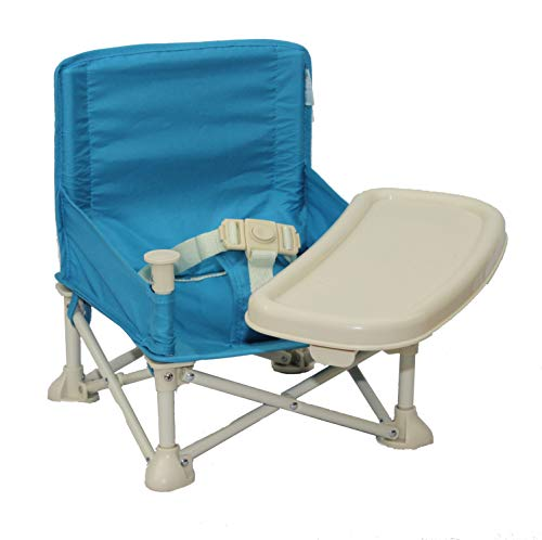 Baby Booster Seat + Tray   Folding Travel Chair   Camping, Picnics, Grandma's   Travel High Chair