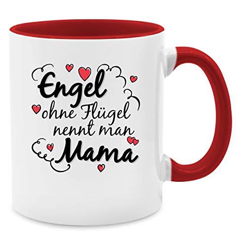 Shirtracer Muttertagsgeschenk Tasse - Engel ohne Flügel nennt Man Mama Tasse - Unisize - Rot - Engel Tasse - Q9061 - Tasse für Kaffee oder Tee