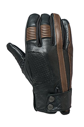WCC West Coast Choppers Motorrad Leder Handschuh Grunge Tobacco Brown-S