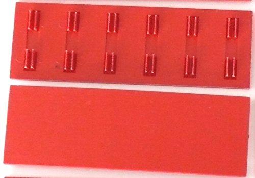 fischertechnik ® - 10 x - Platte - Bauplatte - Zubehör - 30 x 90-31503 - rot