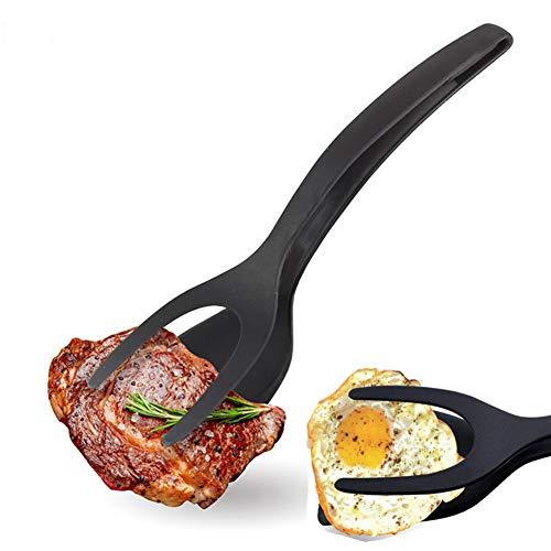 Fried Egg Steak Spatula 2 in 1 anti-aanbaklaag Pannenkoek geroosterde broodjes Brood Grip en Flip Spatel voor Keukengerei Kookgereedschap Accessoires