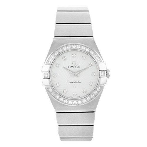 Omega Constellation Steel White MOP Dial Quartz Ladies Watch 123.15.24.60.55.002