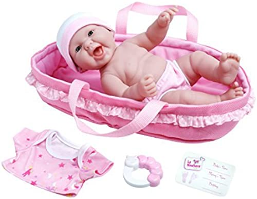 ofreciendo 100% La Newborn Realistic Baby Doll Soft Basket Set Set Set - 6 Piece Gift Set featuring 13 All Vinyl Newborn Doll, Ages 2+ by JC Toys by JC Toys  genuina alta calidad