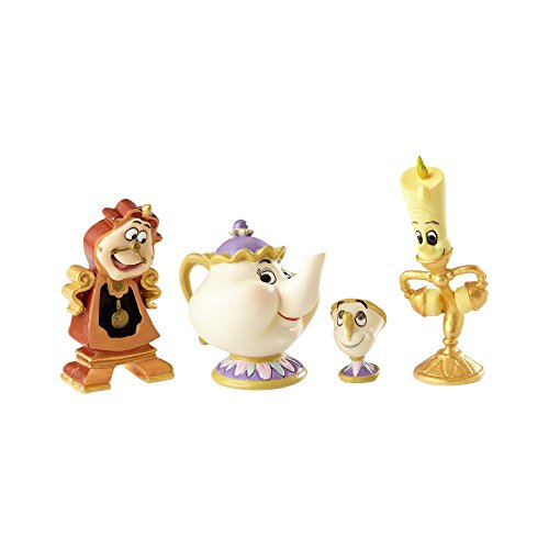Enesco Disney Showcase Beauty and The Beast Figurine Set, Multicolor