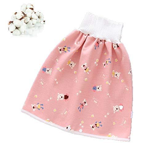 Pantalones de entrenamiento de algodón 2 en 1 para niños, impermeables, pantalones de entrenamiento de algodón para bebé niño y niña, para dormir durante la noche, entrenamiento de 0 a 8 años