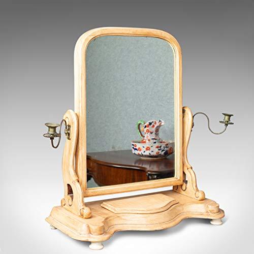 London Fine Antiques Espejo antiguo para tocador, victoriano inglés, tocador, inodoro, pintado, c1870