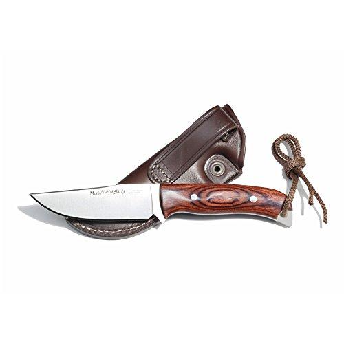 Electropolis EIN Stück Jagdmesser Muela Husky Alpaka Kappe, Integral, gepresstem Holz Palisandergriff, Klinge 10 cm + Mehrzweck-Geschenkkarte