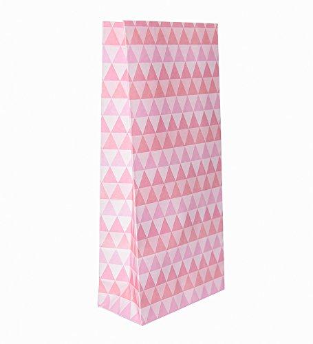 10 roze roze papieren zakjes voor gastengeschenken, uit de serie