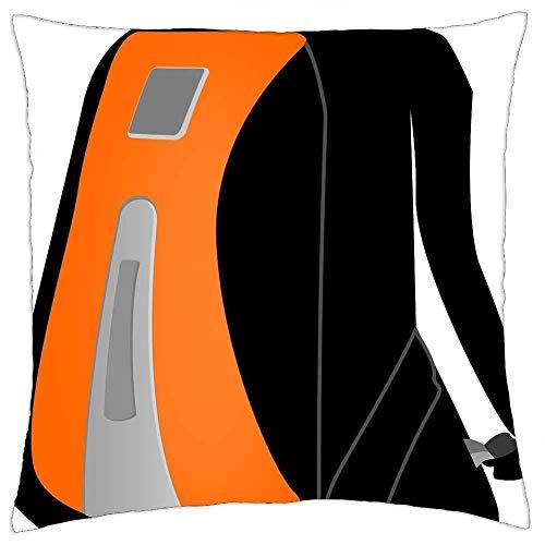 Fundas de almohada, mochila equipaje, mochila escolar, fundas de almohada personalizadas para comodidad y comodidad en viajes, 45 x 45 cm