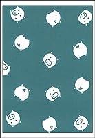 梨園染 手ぬぐい 注染 綿100% 日本製 コブタ(青)