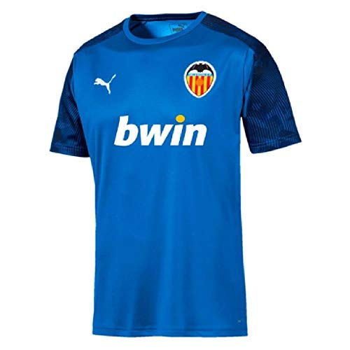 PUMA 2019-2020 Valencia Training Football Soccer T-Shirt Jersey (Blue)