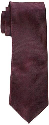Calvin Klein – Corbata para hombre, color plateado, Vino, Regular