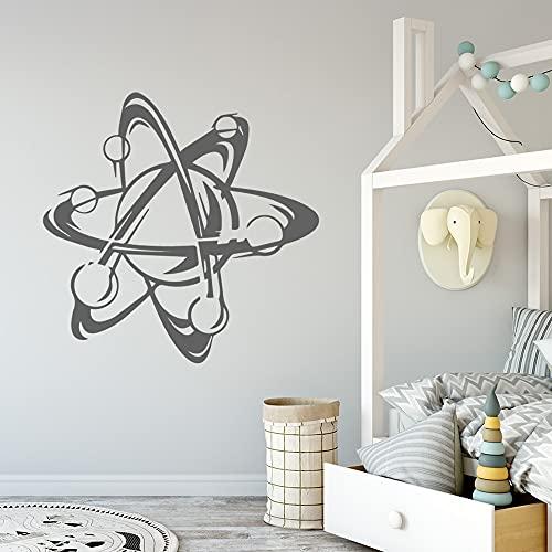 Diy estructura atómica decoración del hogar pegatinas de pared habitación de los niños DIY papel pintado decorativo calcomanías A4 43x43 cm