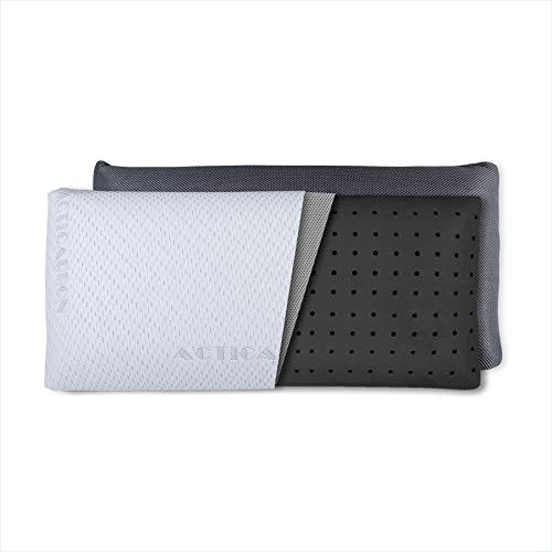 Dreaming Kamahaus Pack 2 Almohadas viscoelástica Carbono Activo 75cm | Núcleo indeformable | Hilo de Plata | Microperforada | Antiestrés | Funda con 2 Caras Invierno/Verano |
