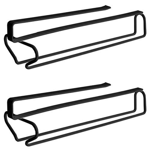 ASFINS Porte Verres Suspendu, 2 pièces Range Verre Suspendu Rangement Verre Suspendu, pour Cuisine, Bar ou Restaurant, 31 cm x 8,6 cm (Noir)