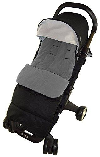 Fußsack/COSY TOES kompatibel mit Nanu Pepp Luxx Kinderwagen Dolphin grau