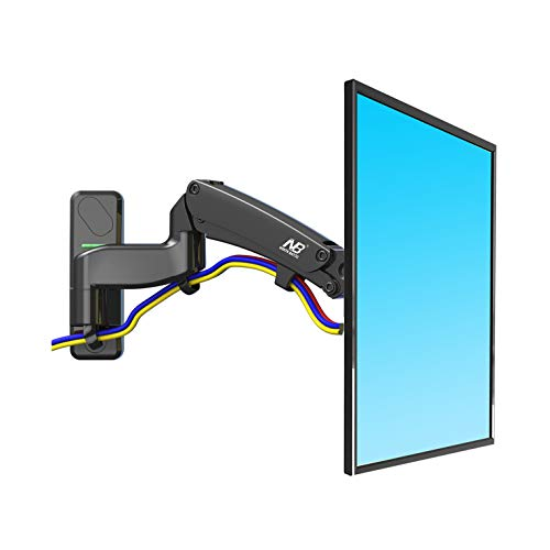 NB North Bayou TV Wall Mount Bracket Full Motion Articulating Swivel for 40 to 50 Inch TV with Gas Spring F450-B
