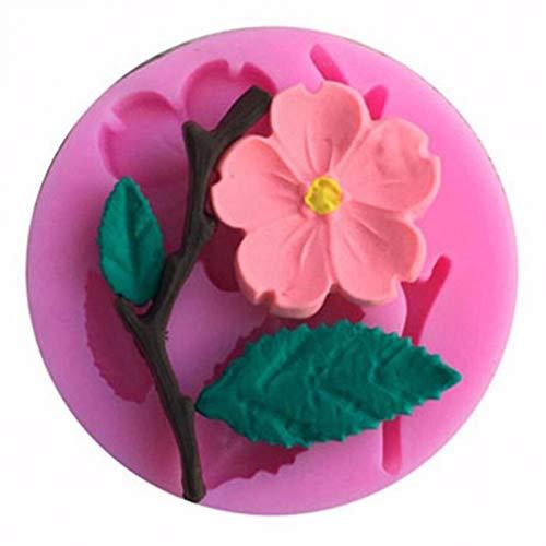 UNIYA Candy Mould 1PC Peach Blossom Shape Fondant Molds Cake Decorating Tools Chocolate Mold Cake Stencils Kitchen DIY Tools