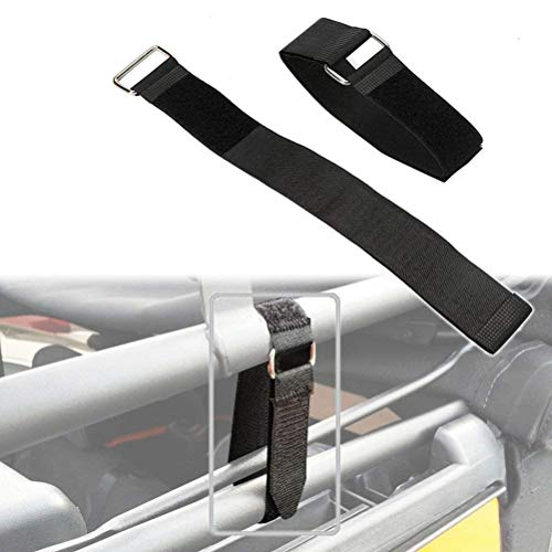 "ALAVENTE Durable Top Tie Down Straps Sunrider 21"" x 1.5"" Adjustable Tie Downs Straps Secure Fasteners for Jeep Wrangler JK JKU YJ TJ JL JLU Unlimited & Sports"