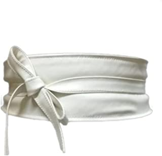 Fashion Factory Off White Faux Leather Belt For Women