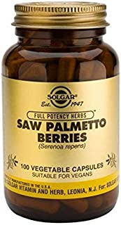 Solgar Saw Palmetto Berries, 100 Vegetable Capsules - Men's Health - Full Potency - Non-GMO, Vegan, Gluten Free, Dairy Fre...