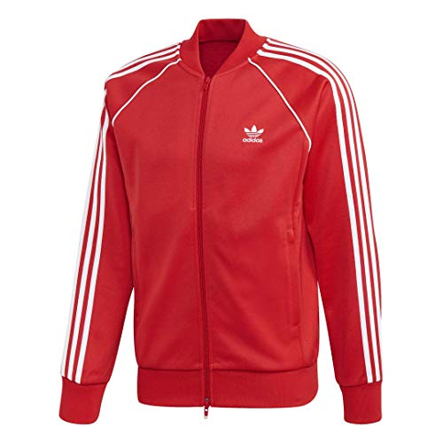 adidas Originals Women's Superstar Track Top Jacket, soft vision, Small