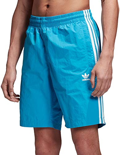 adidas Originals Herren Badehose 3 Stripes Swim DV1590 Blau Türkis, Größe:S