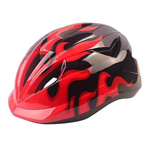 Athyior Fietshelm voor kinderen - Fietshelm 50-54 cm Verstelbare hoofdband Veiligheidsbescherming voor fiets Skateboard Scooter Rijden Leeftijd 4-11 jaar Jongens Meisjes