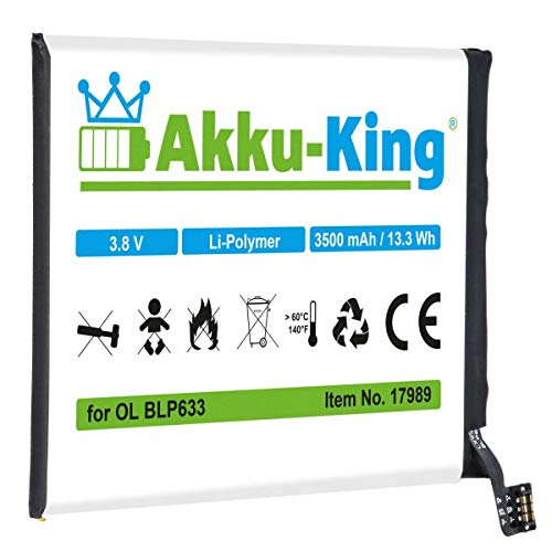 Akku-King Akku kompatibel mit OnePlus BLP633 - Li-Polymer 3500mAh - für OnePlus 3T, 3T Dual SIM, A3010