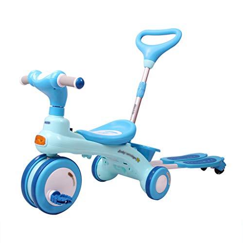 Baby Kind Dreirad, Kleinkind Kinderfahrrad, Fahrrad, Jungen Und Mädchen Dreirad, Kinderwagen Kinderwagen, Abnehmbar, Roller, Fahrt Tandem