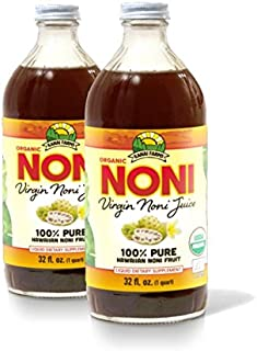Virgin Noni Juice - 100% Pure Organic Hawaiian Noni Juice - 2 Pack of 32oz