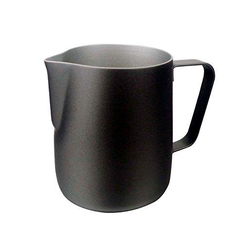 Jarra de leche para máquinas de café espresso, 600ml, leche para taza de capuccino, baristas y arte de cafés negro
