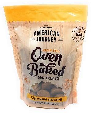 American Journey Grain Free Oven Baked Chicken Recipe Dog Treats (1-8 oz Bag)