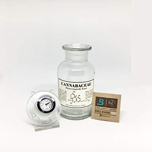 Glas zur Aufbewahrung von Cannabis/Gras - Mary Visible 250ml
