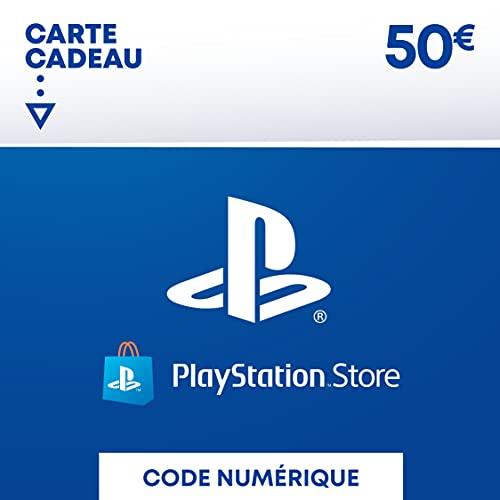 Sony PlayStation Store, Fonds pour porte-monnaie virtuel, Valeur 50 EUR, Code à télécharger, Compte français