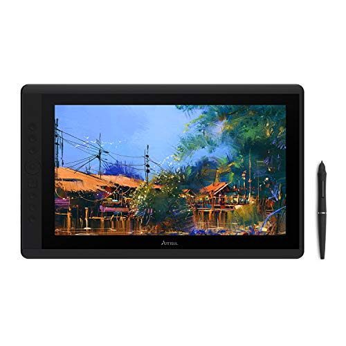 Artisul D16 15.6 Inch Drawing Display FHD Graphics Drawing Monitor with 8192 Levels Pen Pressure 7 Hotkeys and a Dial for Drawing, Home Office and Remote Work