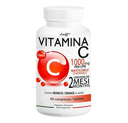 VITAMINA C 1000 Line@Diet | 1000 mg per CPR MASTICABILE | 60 cpr per 2 MESI!! | gusto ARANCIA | Antiossidante