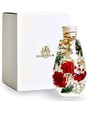 [フラワリウム] フラワーギフト 誕生日プレゼント 贈り物 女性 ホワイトデー 母の日 ハーバリウム 花 ドロップボトル