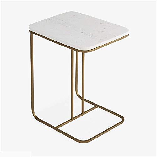 Computertafel smeedijzer + marmer bijzettafel salontafel woonkamer kleine vierkante tafel creatieve sofa hoektafel