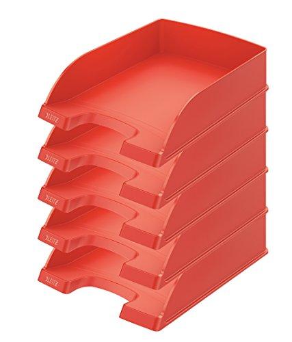 Leitz 52270220 Poliestireno Rojo - Bandeja de escritorio (Poliestireno, Rojo, 255 x 357 x 70 mm, 280 g)