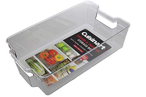Cuisinart - Contenedores organizadores para congelador y nevera - Contenedor organizador de plástico, ideal para guardar tarros y condimentos - Mango integrado, apilable, libre de BPA