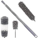 Nifogo Plumero de Limpieza - Plumero Atrapapolvo de Microfibra Extensible 2.5m Ajustable Cepillo Plumeros, Lavable, para el Polvo Limpiar Techos Interiores, Escaleras, Muebles, Automóviles(4pcs)