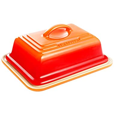 Le Creuset Heritage Stoneware Butter Dish, Flame