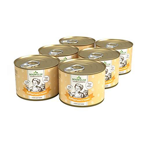 Nassfutter Katze Geflügel PUR 6 x 200 g von Boswelia